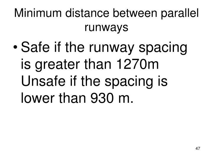 Minimum distance between parallel runways