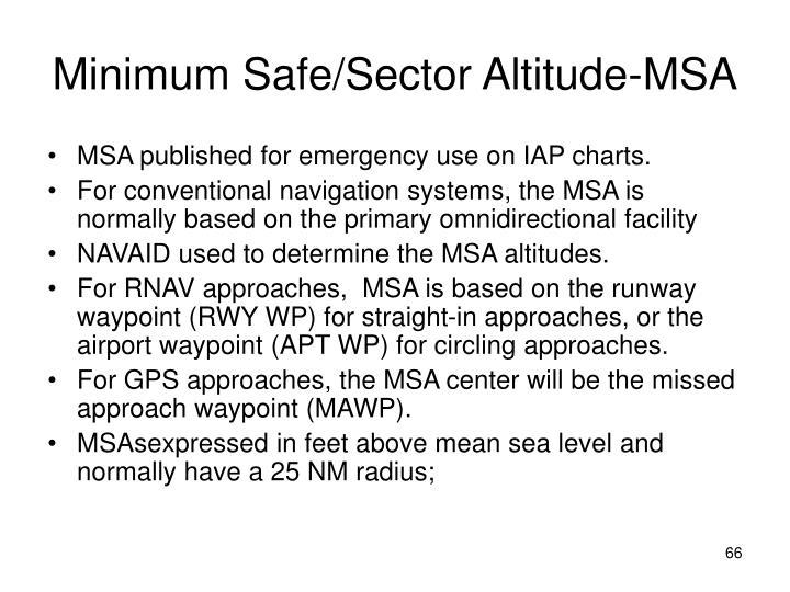 Minimum Safe/Sector Altitude-MSA
