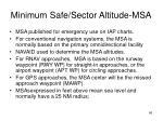 minimum safe sector altitude msa