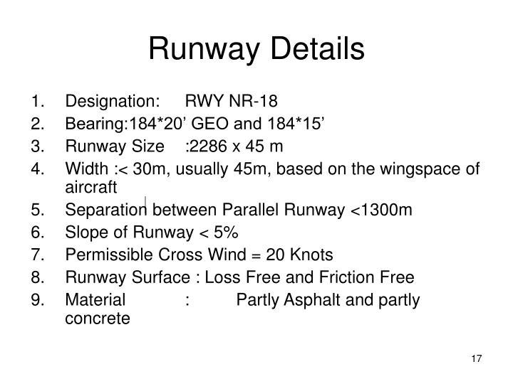 Runway Details