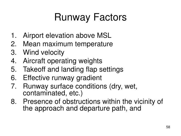 Runway Factors