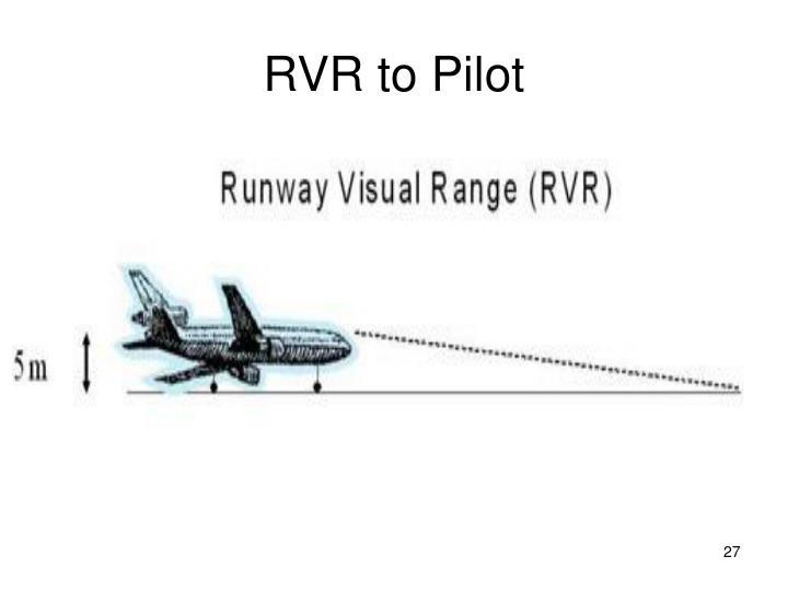 RVR to Pilot
