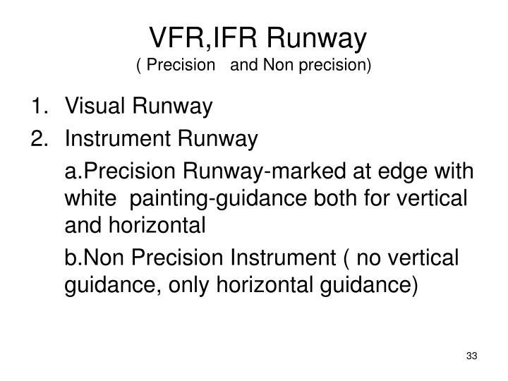 VFR,IFR Runway