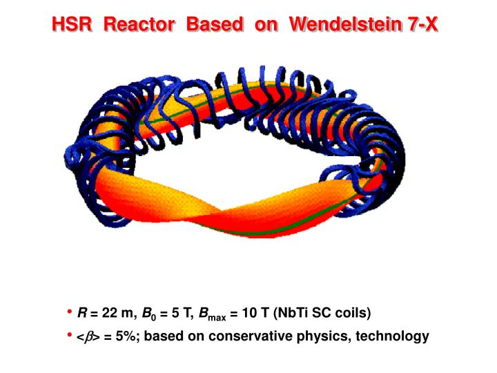 HSR  Reactor  Based  on  Wendelstein 7-X