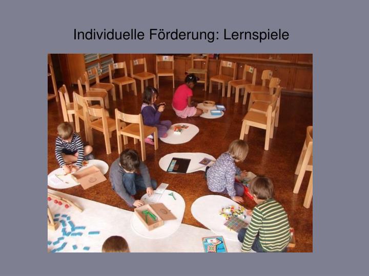 Individuelle Förderung: Lernspiele
