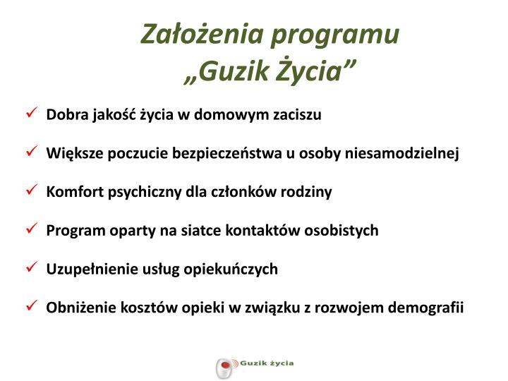 """Założenia programu """"Guzik Życia"""""""