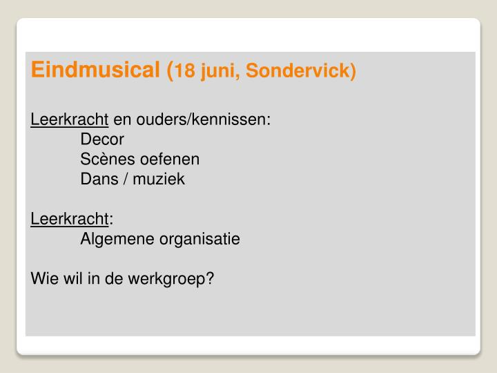Eindmusical (