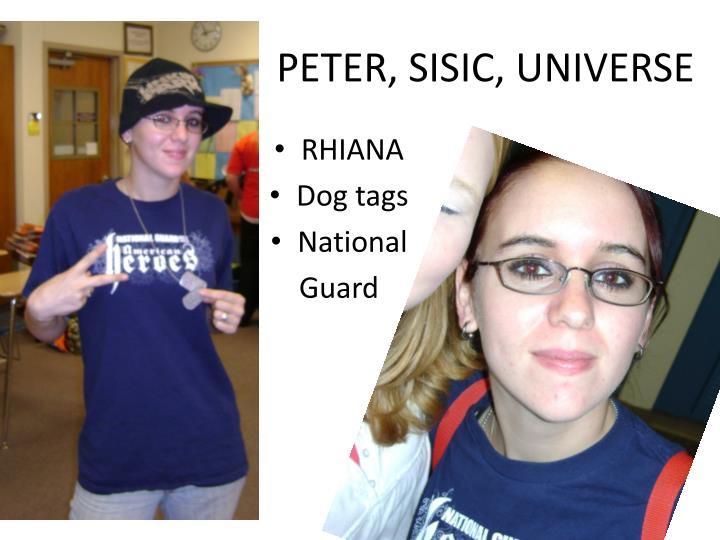 PETER, SISIC, UNIVERSE
