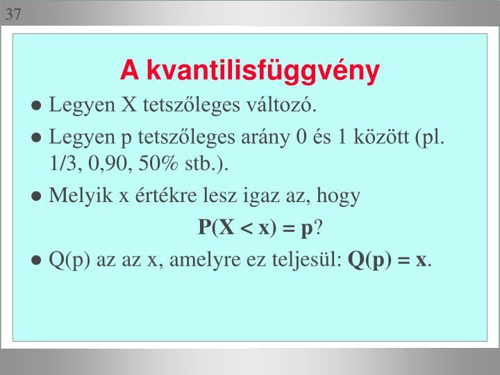 Legyen X tetszőleges változó.