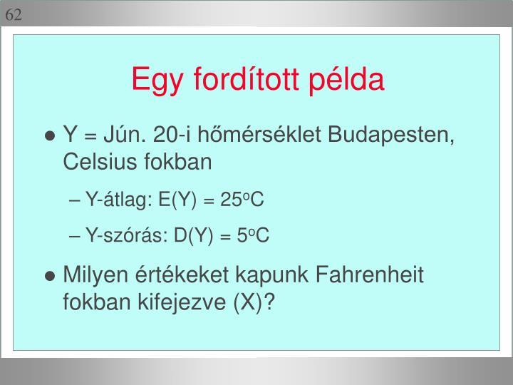 Y = Jún. 20-i hőmérséklet Budapesten, Celsius fokban