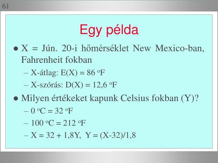 X = Jún. 20-i hőmérséklet New Mexico-ban, Fahrenheit fokban