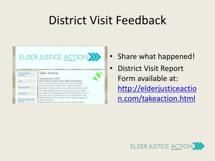 District Visit Feedback