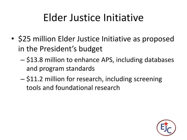 Elder Justice Initiative