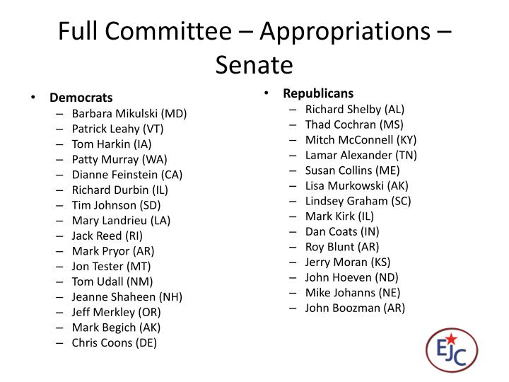 Full Committee – Appropriations – Senate