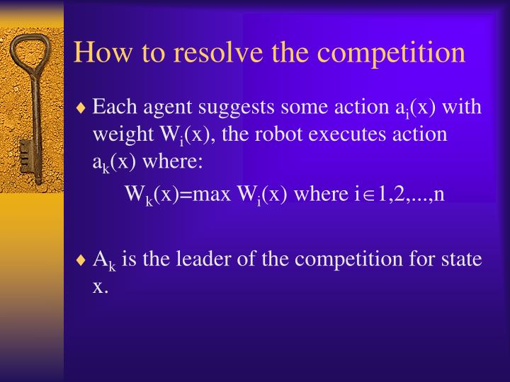 How to resolve the competition