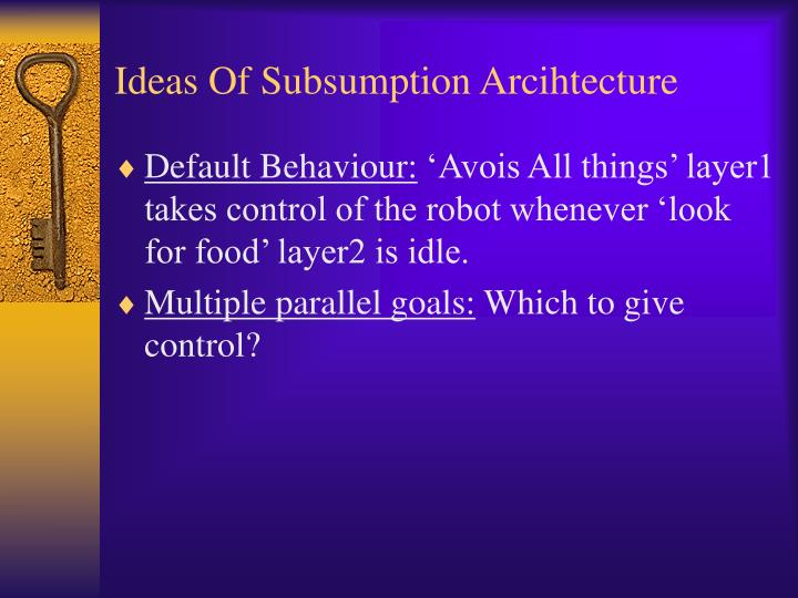 Ideas of subsumption arcihtecture