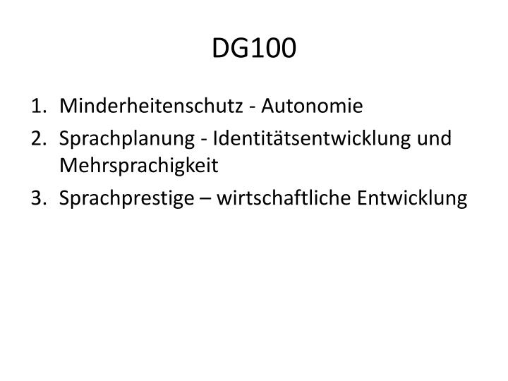 DG100