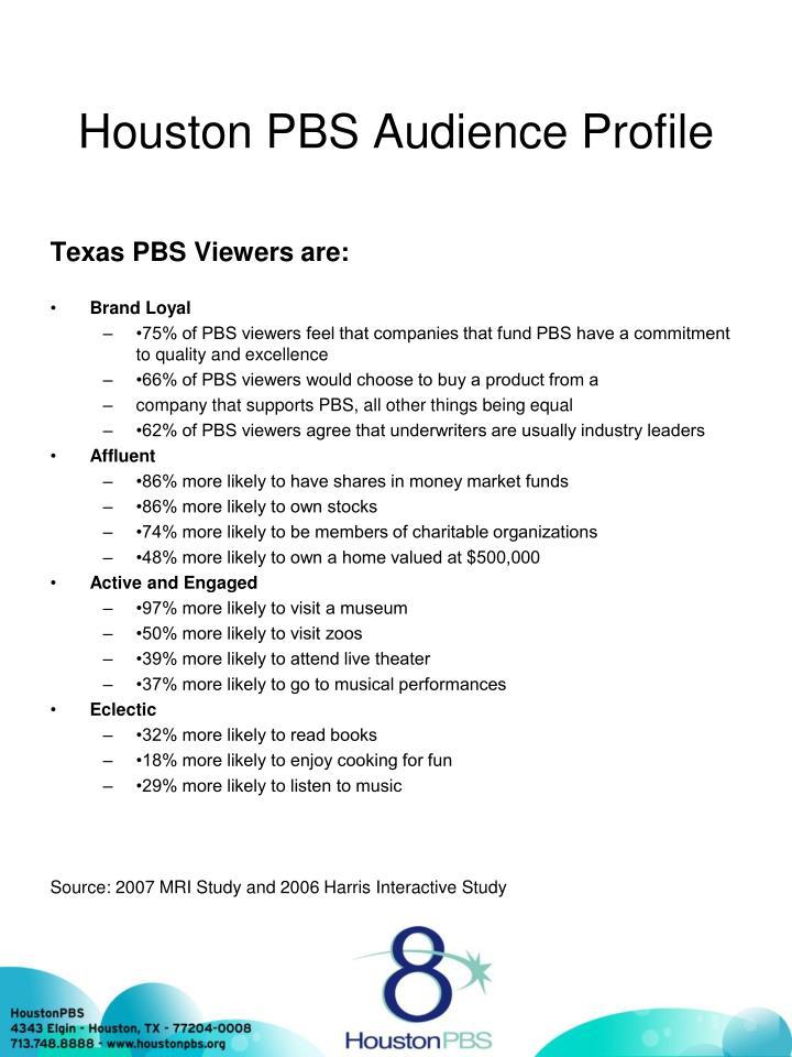 Houston PBS Audience Profile