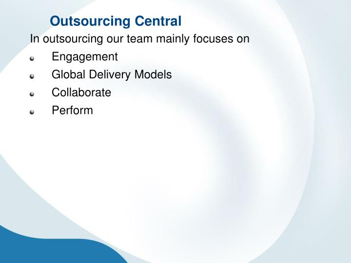 Outsourcing Central