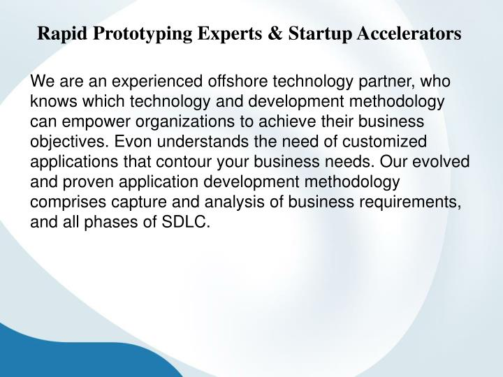 Rapid Prototyping Experts & Startup Accelerators