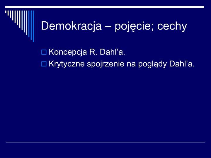 Demokracja – pojęcie; cechy