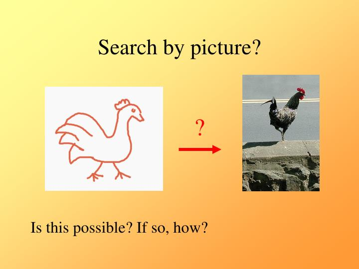 Search by picture?