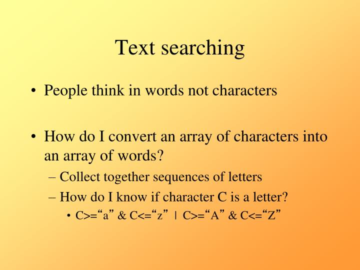 Text searching