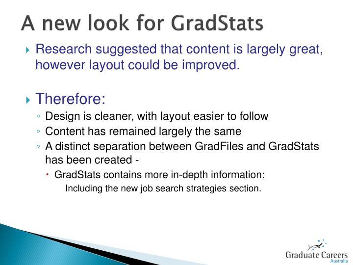 A new look for GradStats