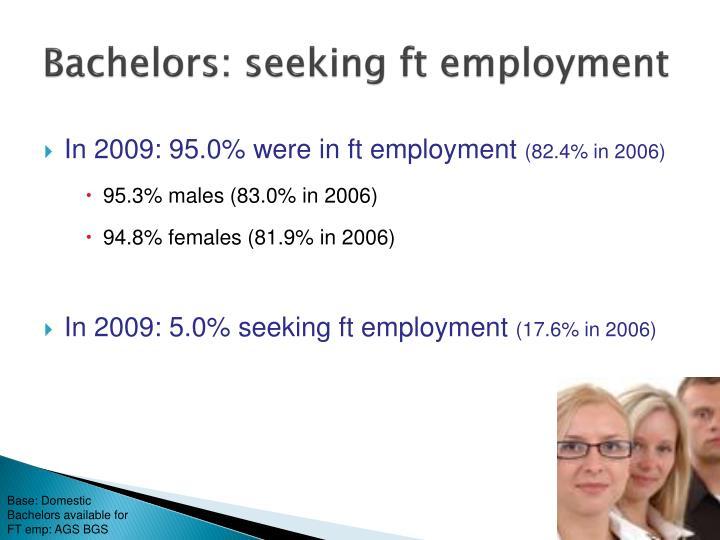 Bachelors: seeking ft employment