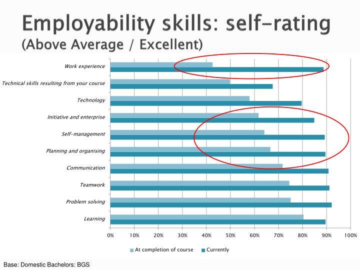Employability skills: self-rating
