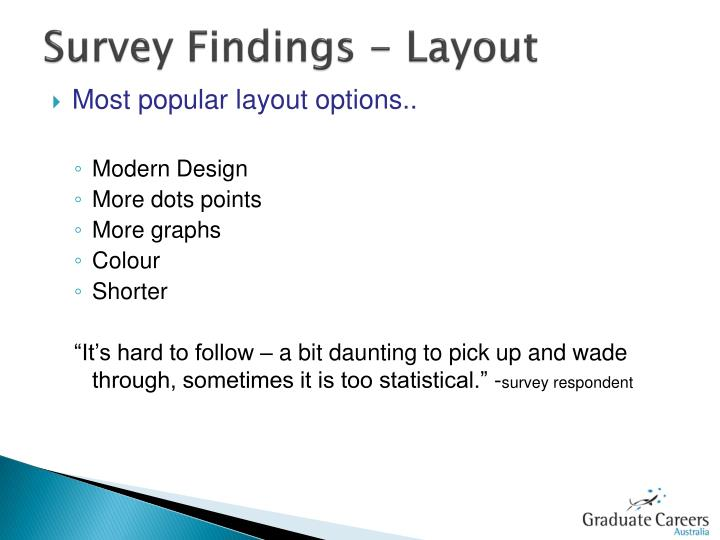 Survey Findings - Layout