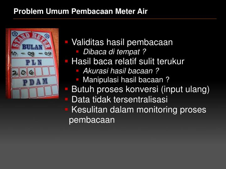 Problem Umum Pembacaan Meter Air