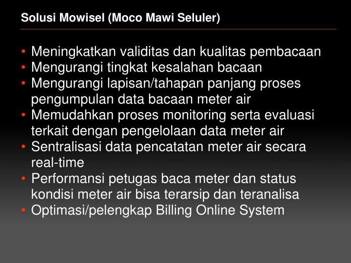 Solusi Mowisel (Moco Mawi Seluler)