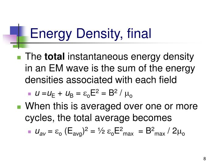 Energy Density, final