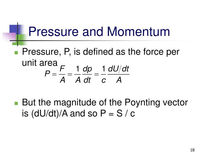 Pressure and Momentum