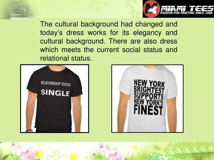 The cultural background had changed and today's dress works for its elegancy and cultural backgrou...