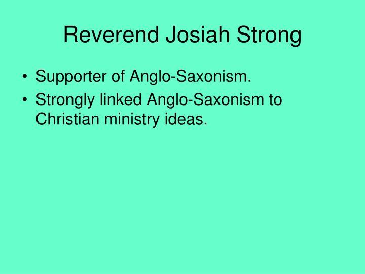Reverend Josiah Strong