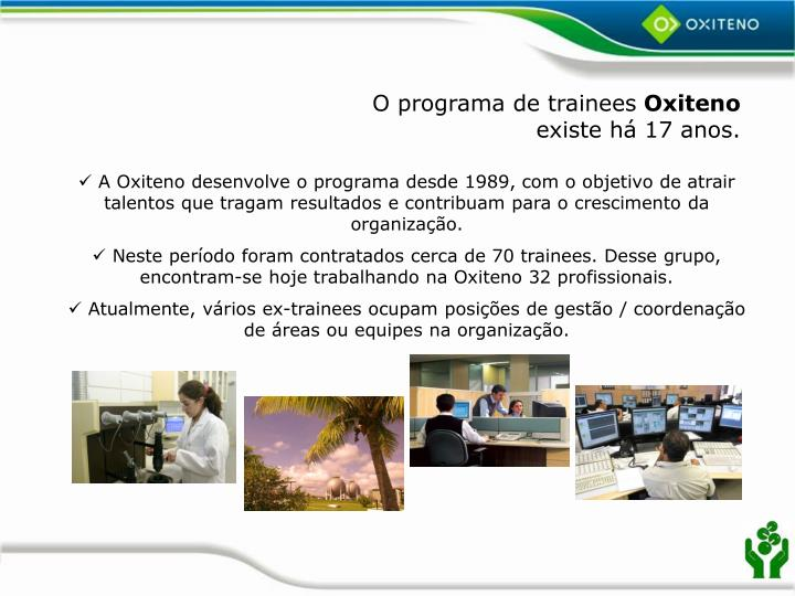 O programa de trainees