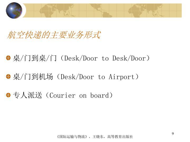 航空快递的主要业务形式