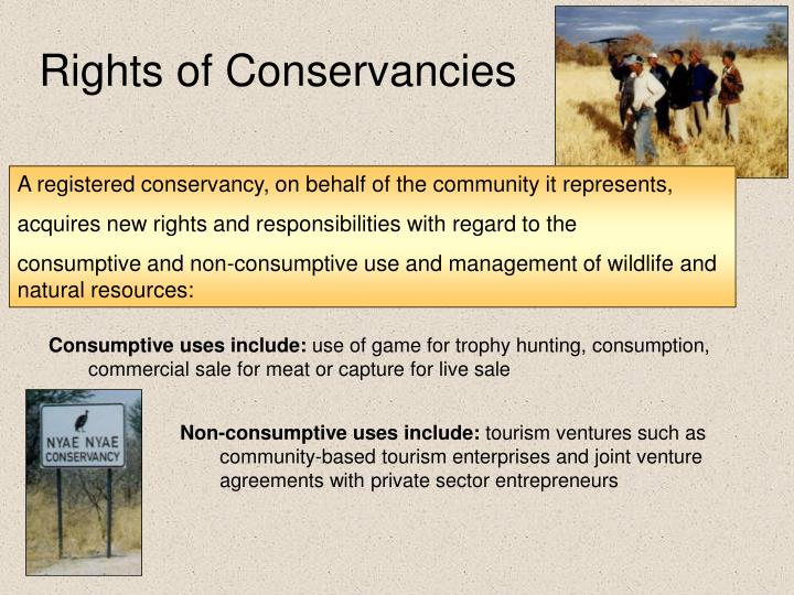 Rights of Conservancies