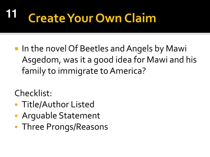 Create Your Own Claim