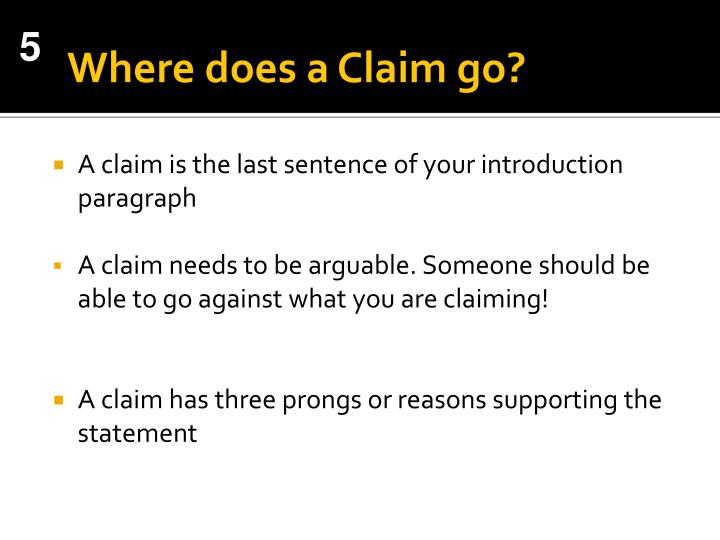 Where does a Claim go?