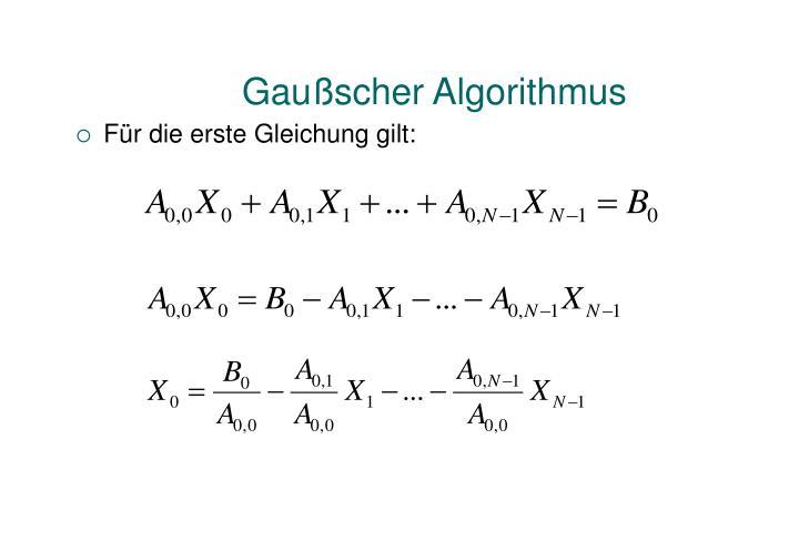 Gaußscher Algorithmus