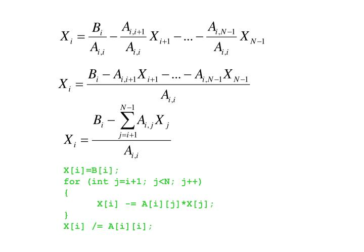 X[i]=B[i];