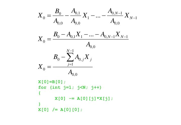 X[0]=B[0];