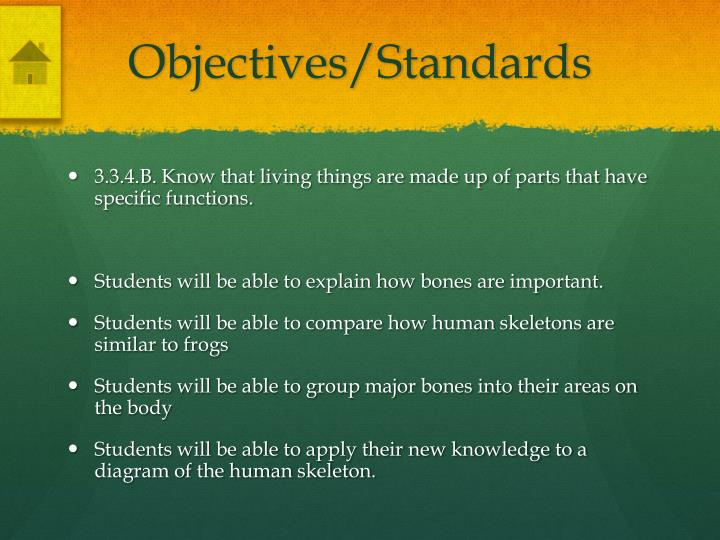 Objectives/Standards