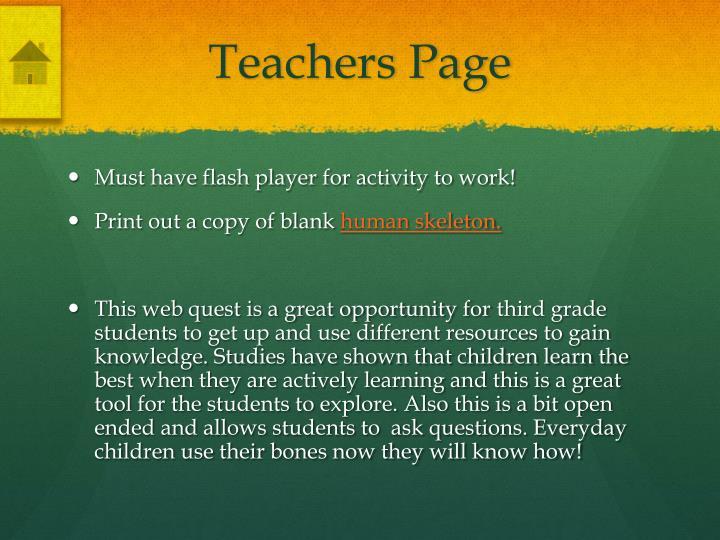 Teachers Page
