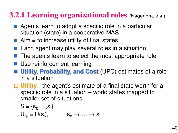 3.2.1 Learning organizational roles
