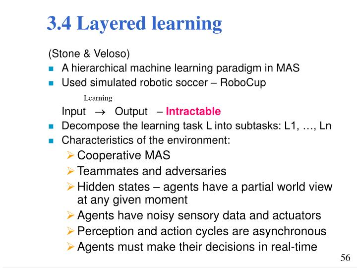 3.4 Layered learning