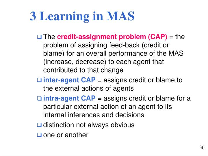 3 Learning in MAS